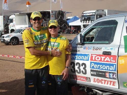 Ary Kolberg recebeu o convite para ajudar a equipe no Dakar como um presente. Foto: Vitor Sendra