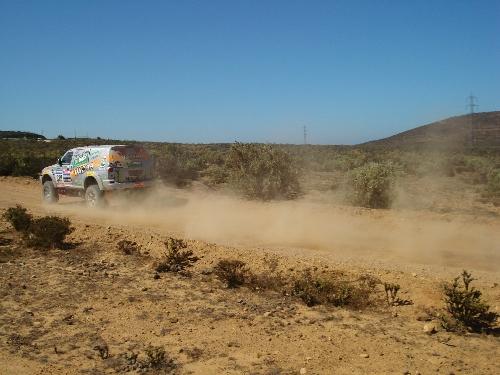 Dia foi de bastante areia e temperatura altíssima na penúltima especial do Dakar. Foto: Vitor Sendra
