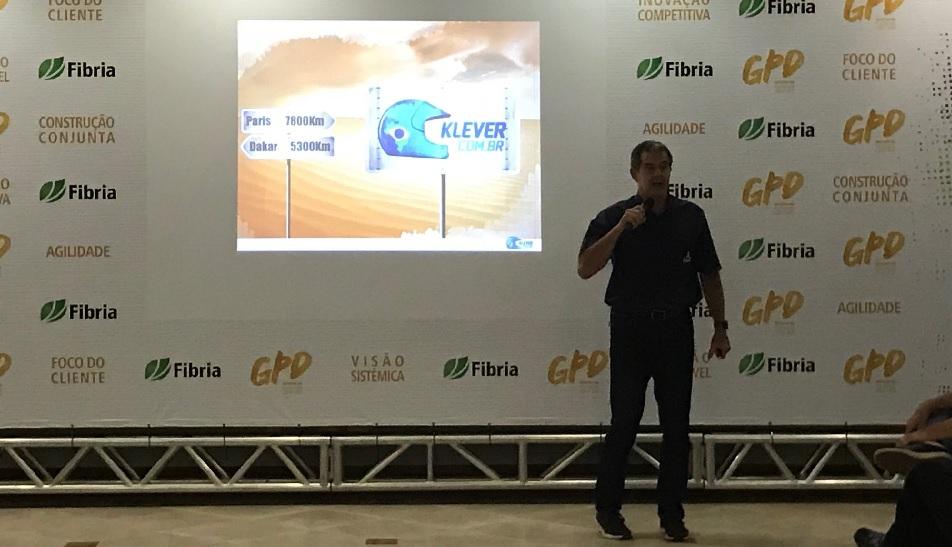 Palestra Motivacional do Engenheiro e Piloto Klever Kolberg para os líderes da Fibria